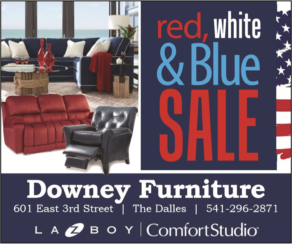Downey Funiture Red, White & Blue Sale Flyer
